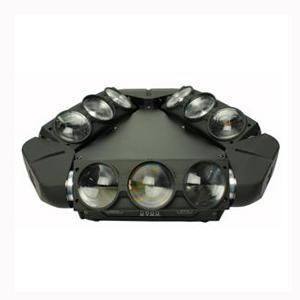 LED九眼旋转光束灯